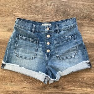 Madewell High Rise Button Fly Retro Shorts